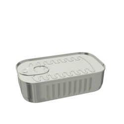 173ml Rectangular Fluted Food Can