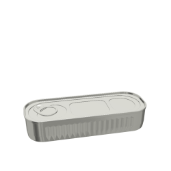 236ml Rectangular Fluted Food Can