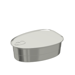 Pear-shaped Aluminium Food Can