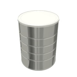 Steel Cylindrical ø127x162.5 - 4x1